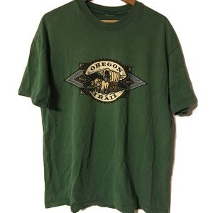 Vintage 90's Oregon Trail XL Green Waggon T Shirt